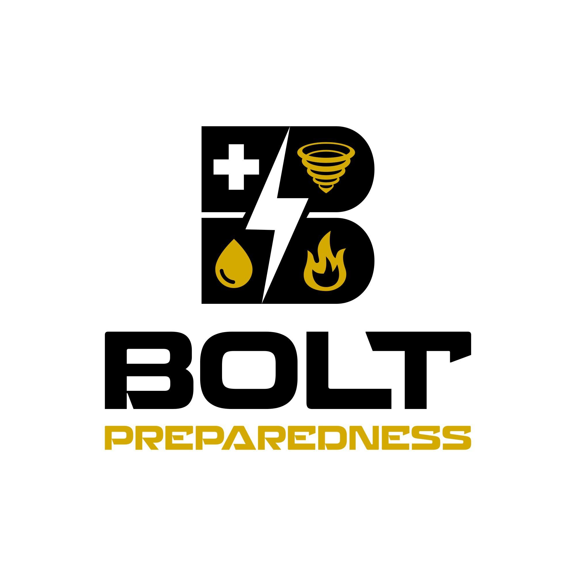 Modern, bold logo for preparedness