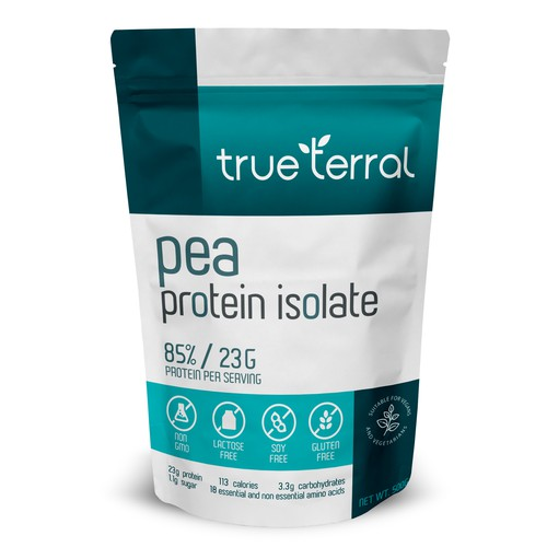 Pea Protein stand up pouch
