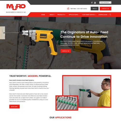 Homepage Design for Muro.