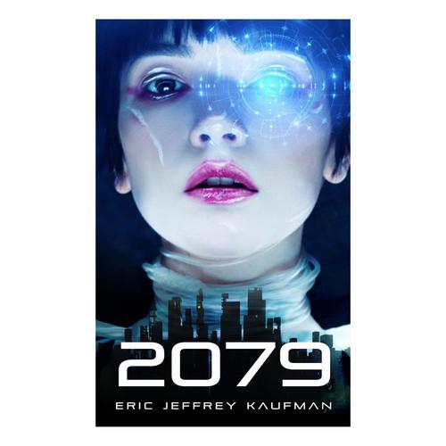 Blade Runneresque cover for sci-fi novel