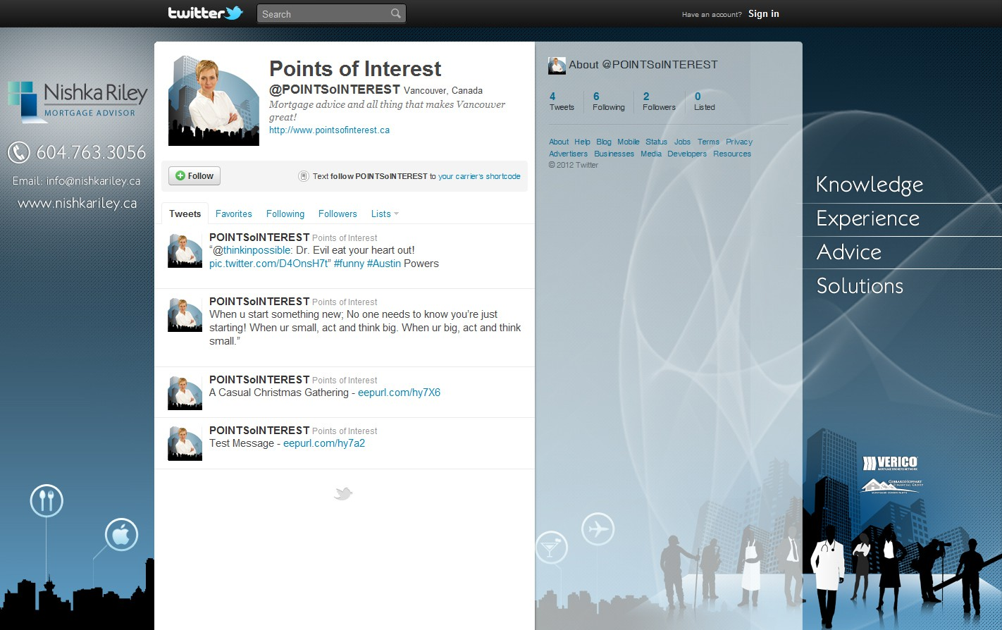 twitter background for Nishka Riley - Mortgage Advisor