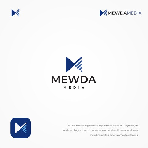 Mewda Media logo design