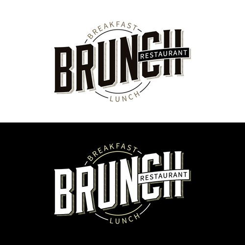 Logo for a Brunch Restaurant