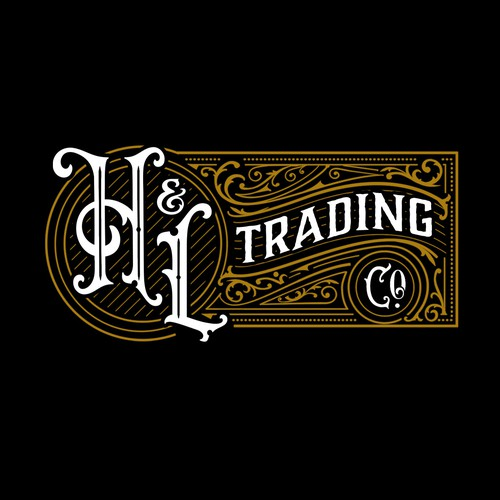 Old west, vintage logo for mercantile brand