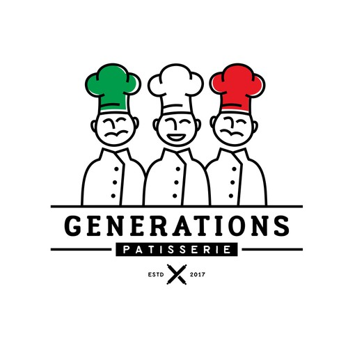 Logo COncept for Generations Patisserie
