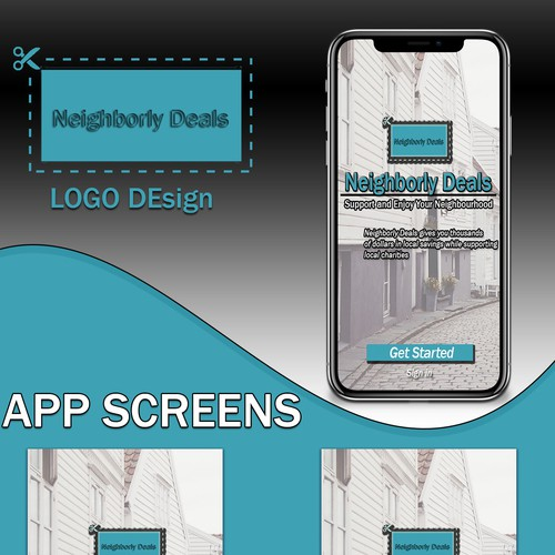App screen design for coupon app