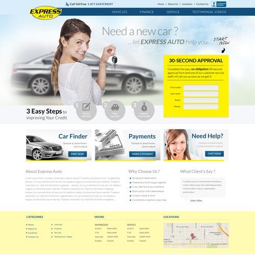 Create the next website design for ExpressAuto.com