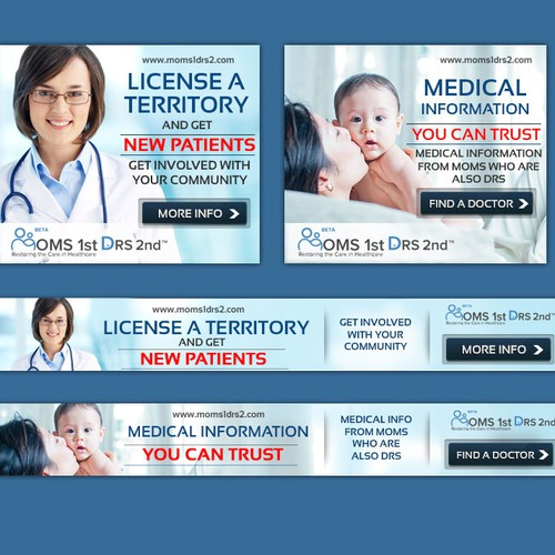 Create an enticing Banner Ad for Moms 1st Drs 2nd