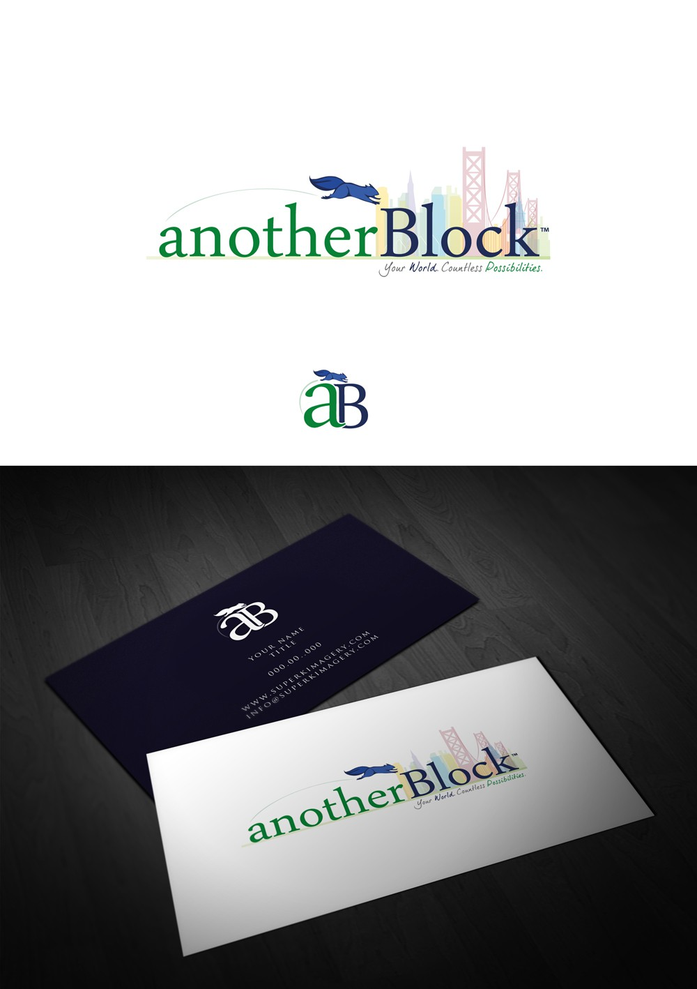 anotherBlock Logo Design