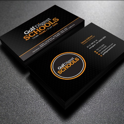 Golf Digest School Business Cards