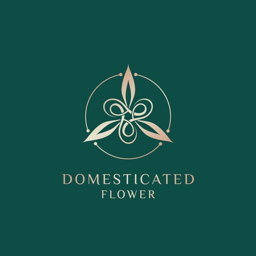 Domesticated Flower Logo