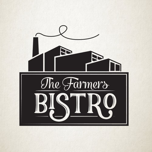 Industrial logo concept for bistro