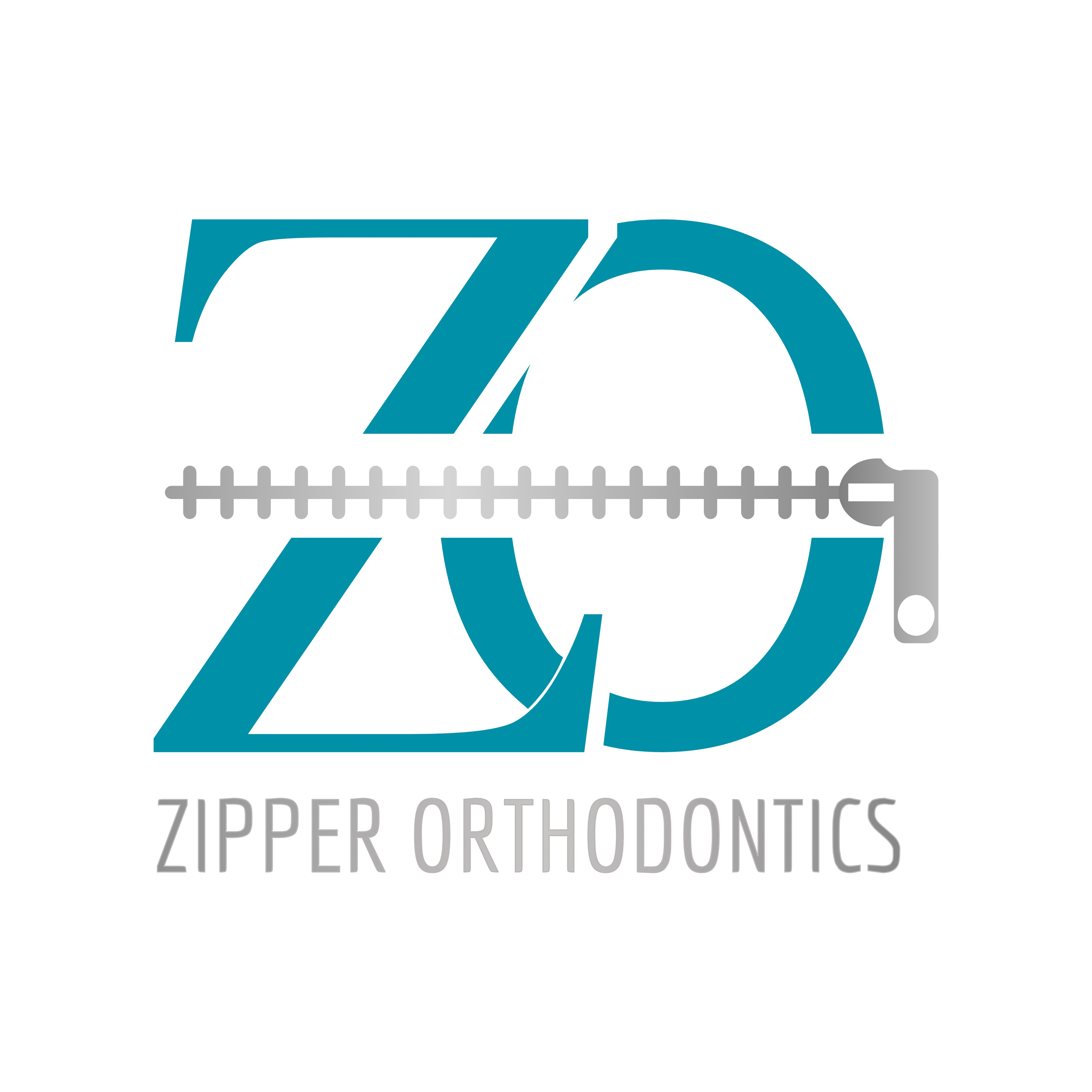 Design a logo with Braces in the shape of a Zipper