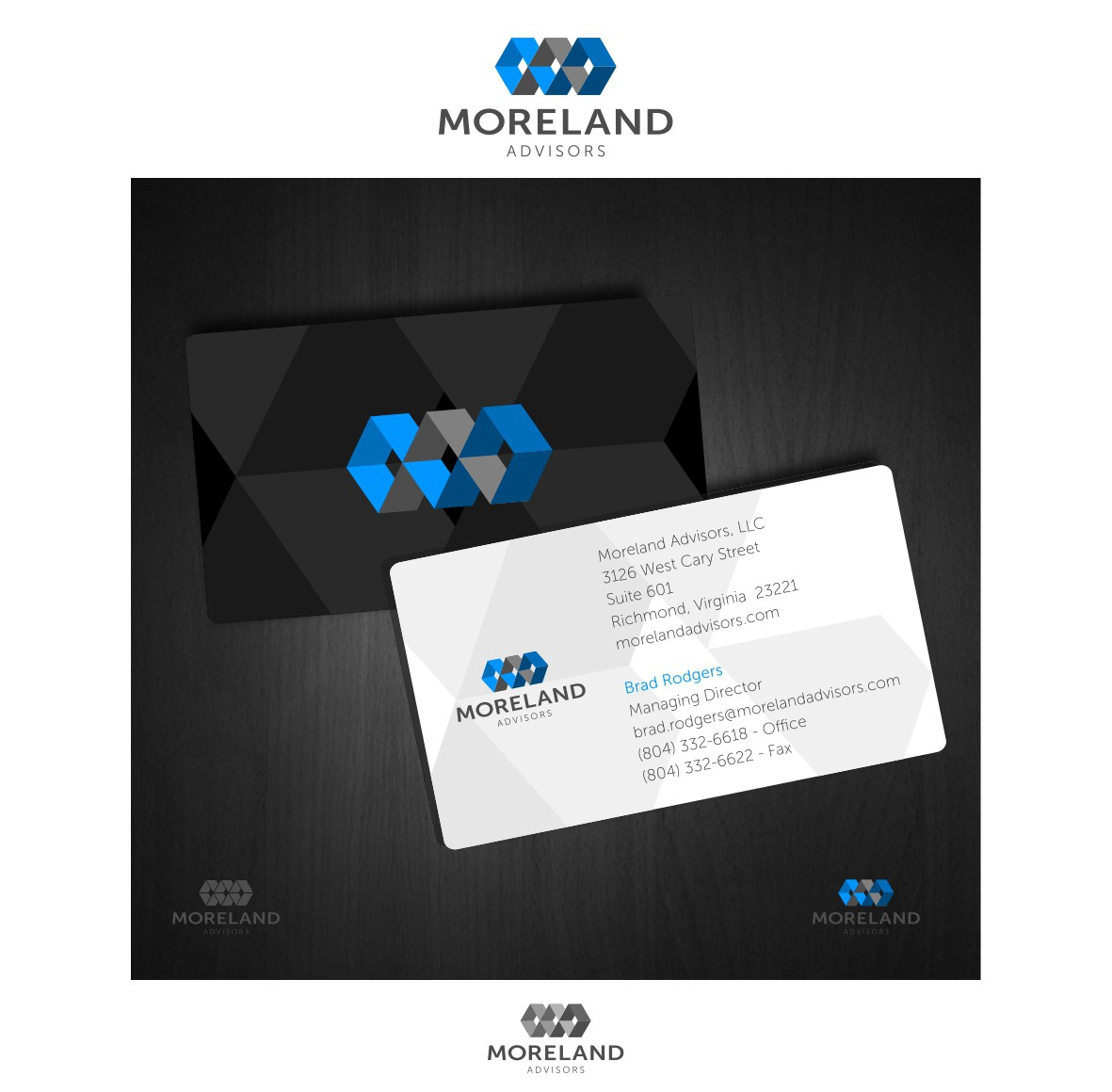 Help Moreland Advisors with a new logo and business card