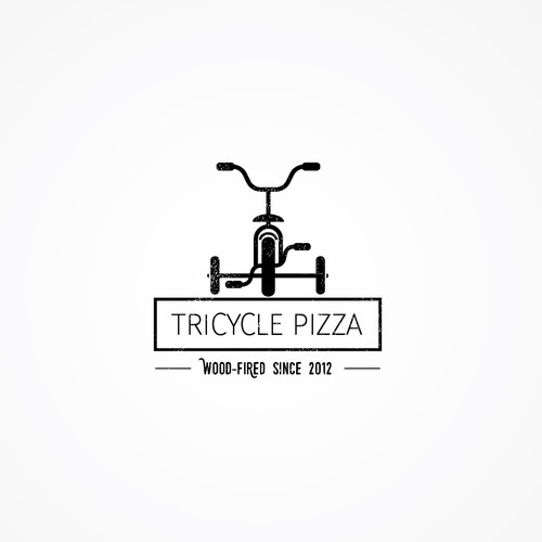 Clean logo concept for a wood-fired pizzeria