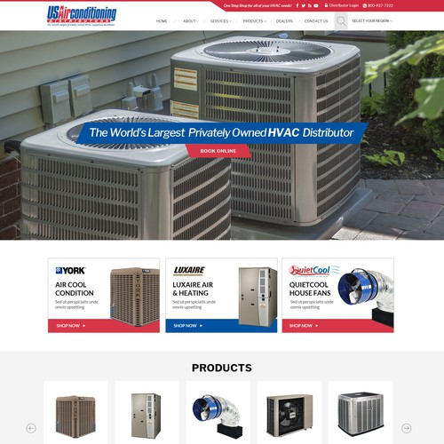 Web design for HVAC Company