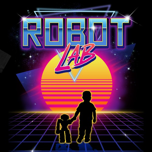 Retro wave theme t-shirt