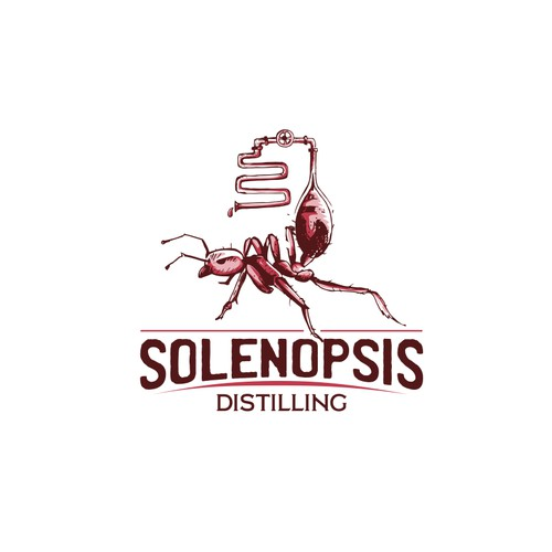 unique logo for Solenopsis Distilling