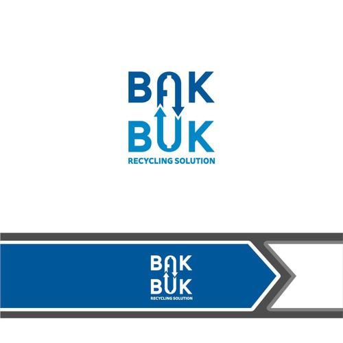 logo concept for bakbuk recycling solution