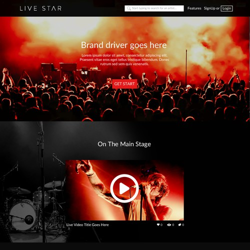 LIVE STAR LANDING PAGE