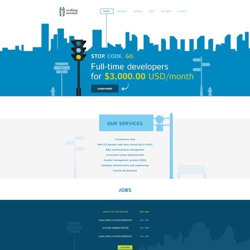 Webdesign for Software Developer Company