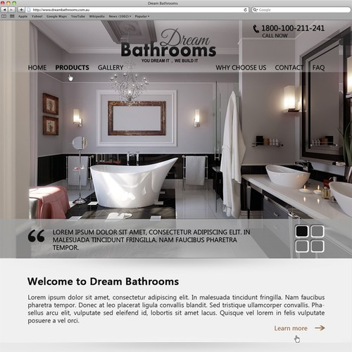 Create the next website design for Dream Bathrooms