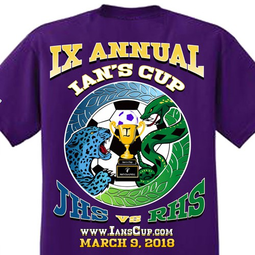 Design for 9th Ian's Cup T-shirt