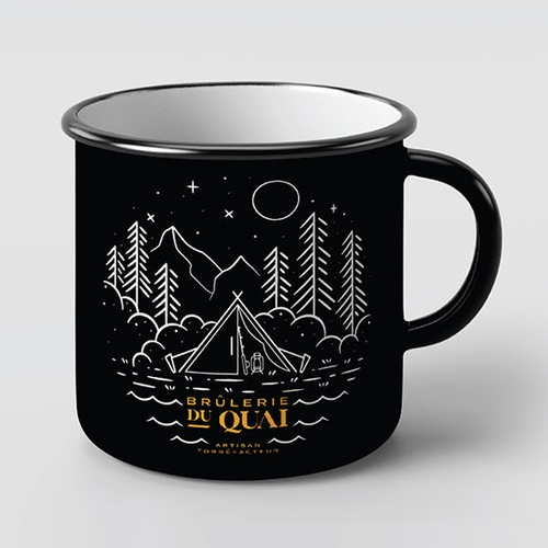 Coffee mug for camping