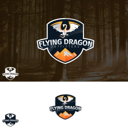 Emblem logo for flying dragon