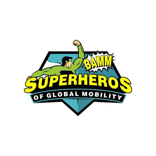 super hero logo