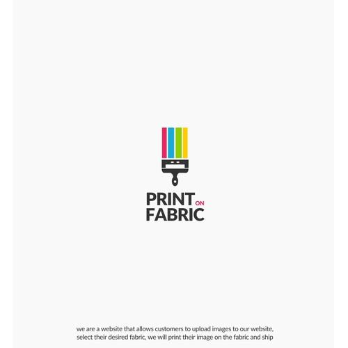 Print on Fabric Logo