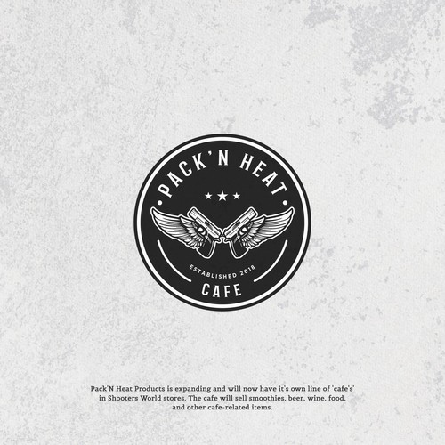 "Logo concept for "" PACK'N HEAT CAFE"""