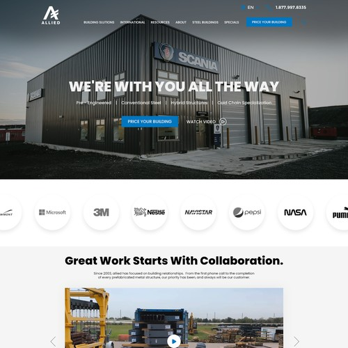 UX/UI REDESIGN - Steel Building Supplier, Think Outside The Box