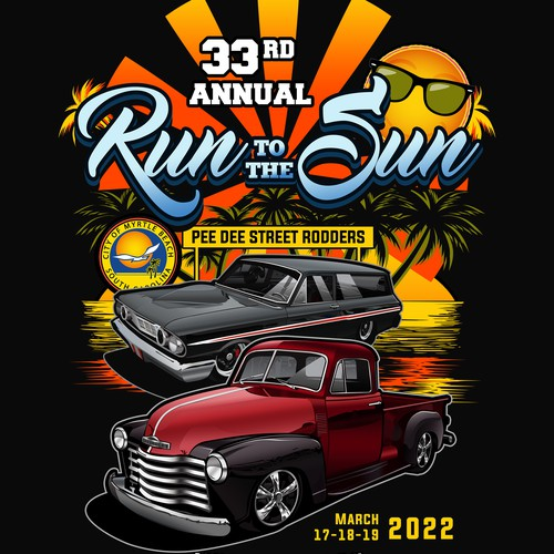 Photorealistic cars for a classic carshow shirt