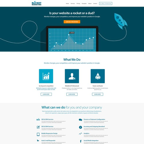Need modern clean design for Online Marketing company