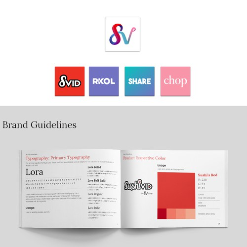 Logo and Brand guidelines for the SV Group