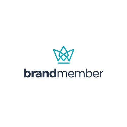 Crown minimalist logo for Brand.
