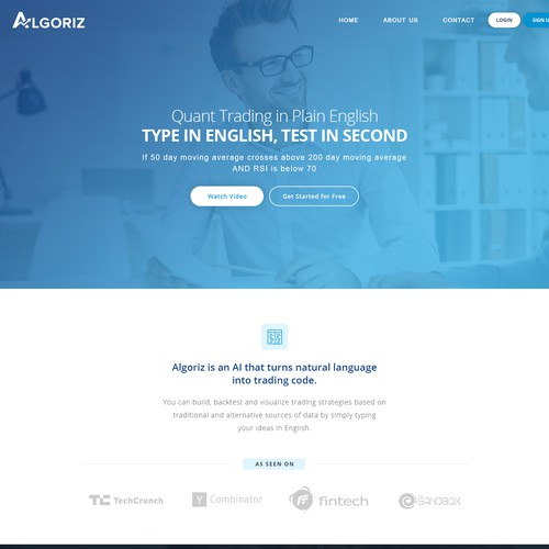 Algoriz Website Design