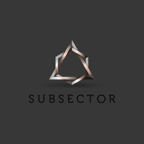 Create a dystopian sci-fi corporation logo for Subsector