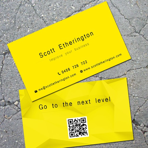 Achieve more with less. Use colour and space to create a distinctive, memorable business card
