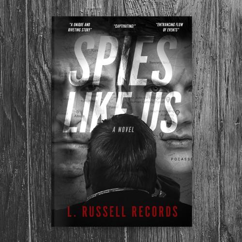 Spy thriller cover design