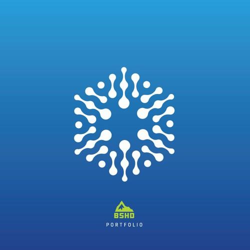 Erstelle ein Logo mit CI für ein modernen ICT Dienstleister