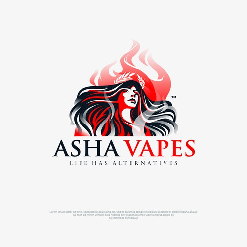 Logo concept for vape house