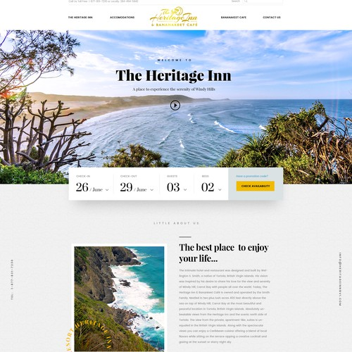 Website Redesign for Hotel