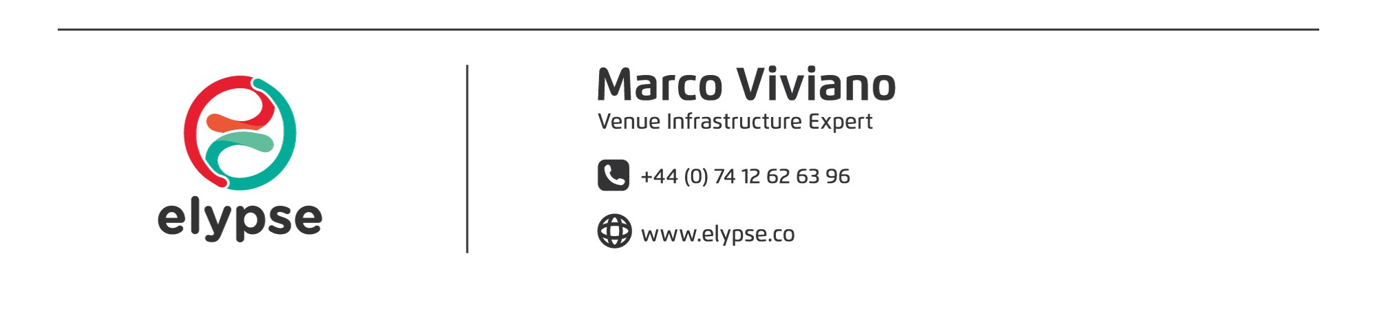 Marco's business card + email adress signature