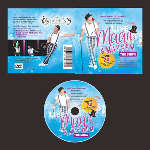 CD cover and label of magician performer
