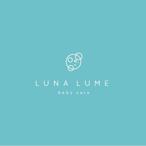 Create a modern and luxurious logo for Luna Lume