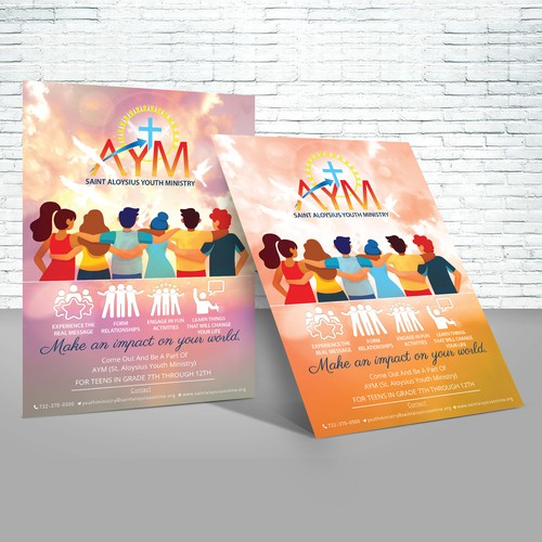 Design a cool and inviting Youth Group poster for teens