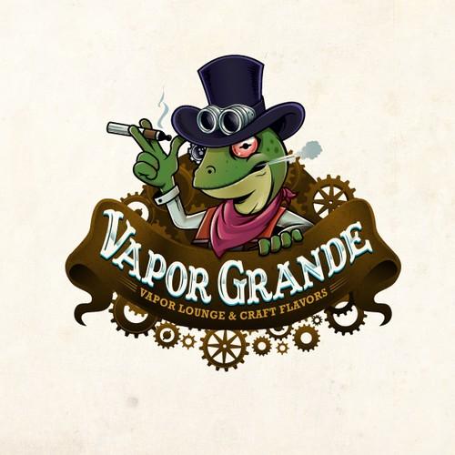 Create a Killer SteamPunk Vapor Lounge Logo