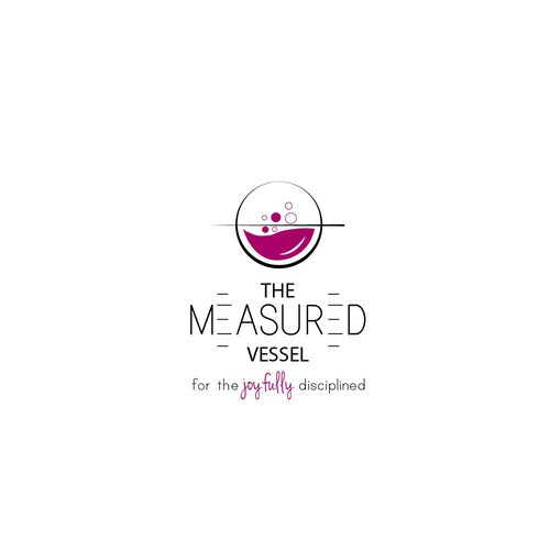 Fun, artistic, and whimsical logo for a custom etched wine glass business